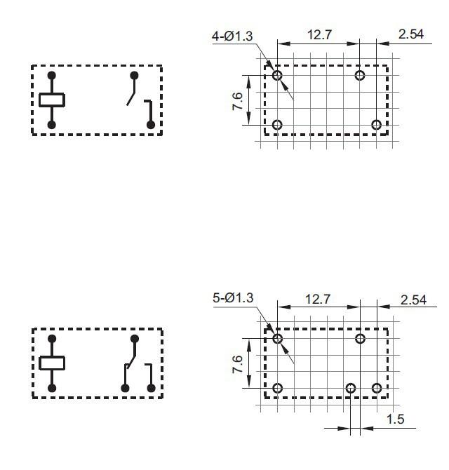 схема реле hf32f