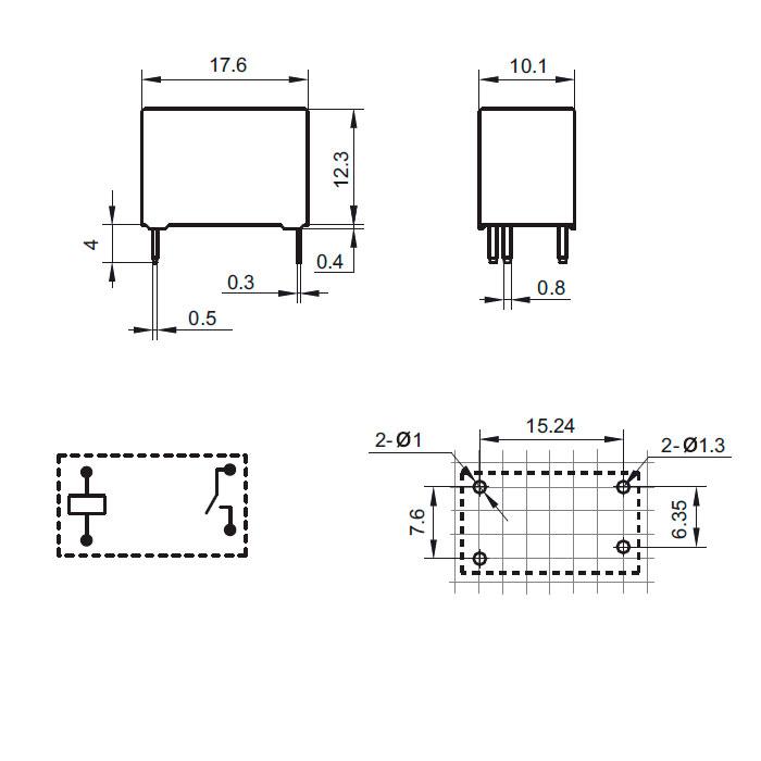 схема реле hf32fa